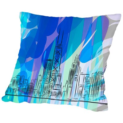 16B12 Chicago Blend Throw Pillow Size: 18 H x 18 W x 2 D