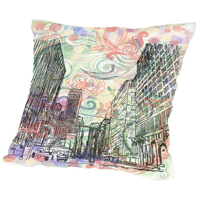 16B14 NYC Blend Throw Pillow Size: 16 H x 16 W x 2 D
