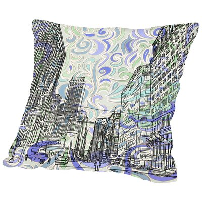 16B15 NYC Blend Throw Pillow Size: 16 H x 16 W x 2 D