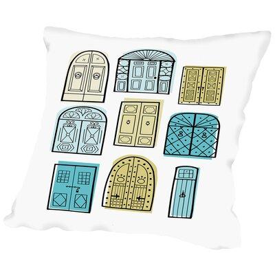 Dublin Doors 2 Throw Pillow Size: 18 H x 18 W x 2 D