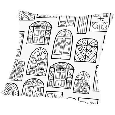 Dublin Doors 1 Throw Pillow Size: 14 H x 14 W x 2 D