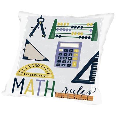 Math Rules Throw Pillow Size: 14 H x 14 W x 2 D