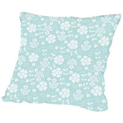 Organic Floral Throw Pillow Size: 18 H x 18 W x 2 D