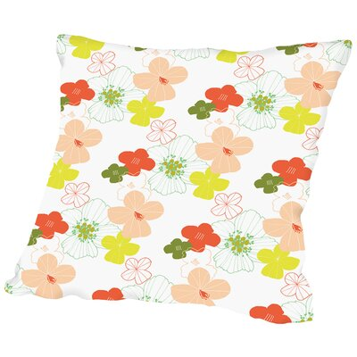 Poppy Beds Throw Pillow Size: 14 H x 14 W x 2 D