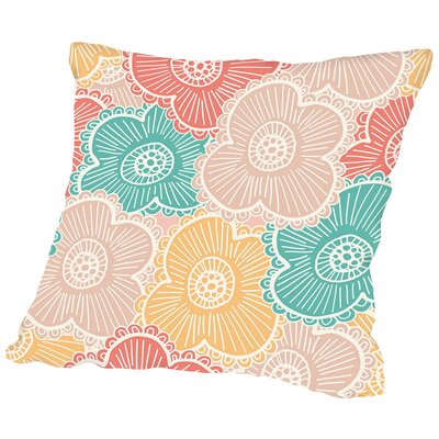 Springtime Floral Throw Pillow Size: 18 H x 18 W x 2 D
