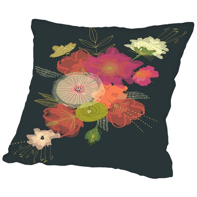 Edwardian Bouquet Throw Pillow Size: 18 H x 18 W x 2 D
