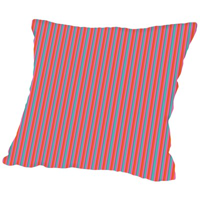 Stripes Throw Pillow Size: 16 H x 16 W x 2 D