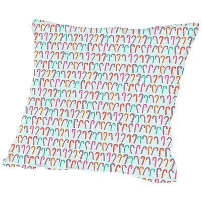 Candy Cane Throw Pillow Size: 18 H x 18 W x 2 D