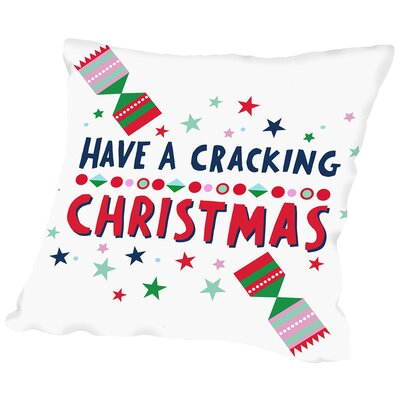 Cracking Christmas Throw Pillow Size: 16 H x 16 W x 2 D