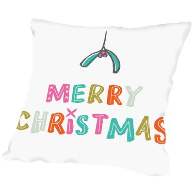 Mistletoe Throw Pillow Size: 18 H x 18 W x 2 D