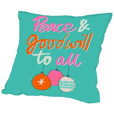 Peace Throw Pillow Size: 18 H x 18 W x 2 D