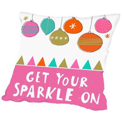 Sparkle Throw Pillow Size: 18 H x 18 W x 2 D
