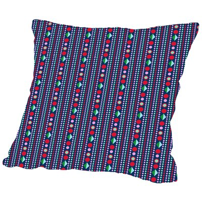 Dots Throw Pillow Color: Dark, Size: 18 H x 18 W x 2 D