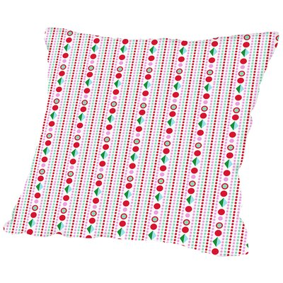 Dots Throw Pillow Size: 14 H x 14 W x 2 D, Color: White