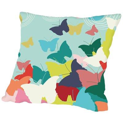 Butterflies Throw Pillow Size: 16 H x 16 W x 2 D