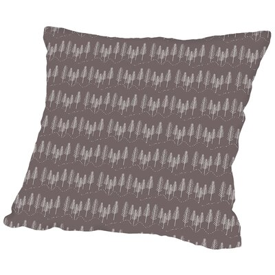 Woodland Walk Throw Pillow Size: 14 H x 14 W x 2 D, Color: Dark