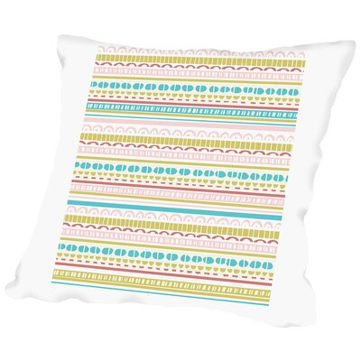 Stripes Throw Pillow Size: 14 H x 14 W x 2 D