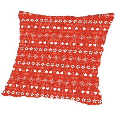 Knit Throw Pillow Color: Red, Size: 18 H x 18 W x 2 D