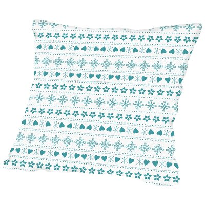 Knit Throw Pillow Color: Blue, Size: 20 H x 20 W x 2 D