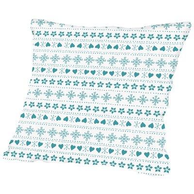 Knit Throw Pillow Color: Blue, Size: 16 H x 16 W x 2 D