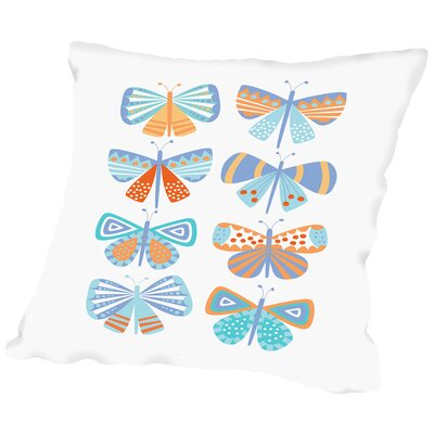 Butterflies Throw Pillow Size: 14 H x 14 W x 2 D