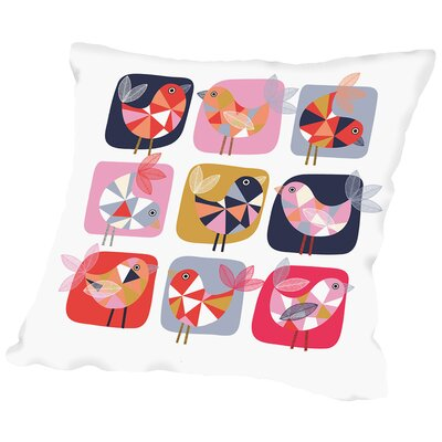 Geo Bird-Square Throw Pillow Size: 20 H x 20 W x 2 D