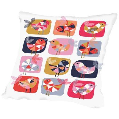 Geo Bird Throw Pillow Size: 20 H x 20 W x 2 D
