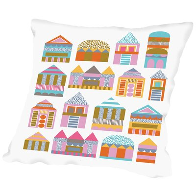 Little Houses Throw Pillow Size: 18 H x 18 W x 2 D