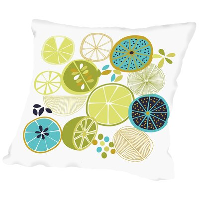 Luscious Limes Throw Pillow Size: 20