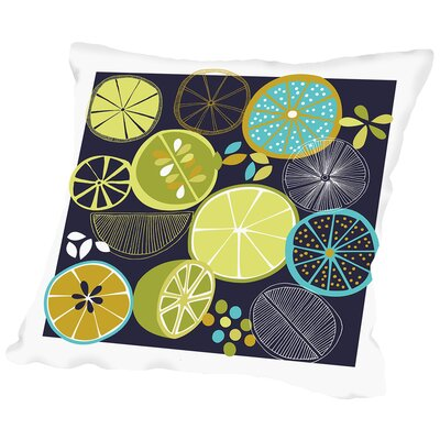 Luscious Limes Throw Pillow Color: Black, Size: 20