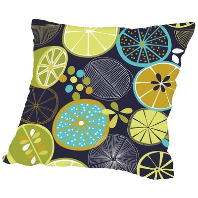 Luscious Limes 1 Throw Pillow Size: 14 H x 14 W x 2 D, Color: Black