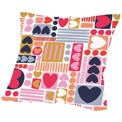 Mod Hearts 1 Throw Pillow Size: 20 H x 20 W x 2 D
