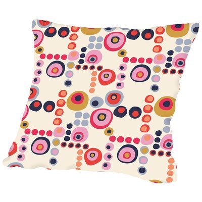 Mod Circles Light Throw Pillow Size: 20 H x 20 W x 2 D