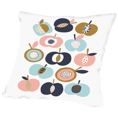 Pommes Throw Pillow Size: 18 H x 18 W x 2 D