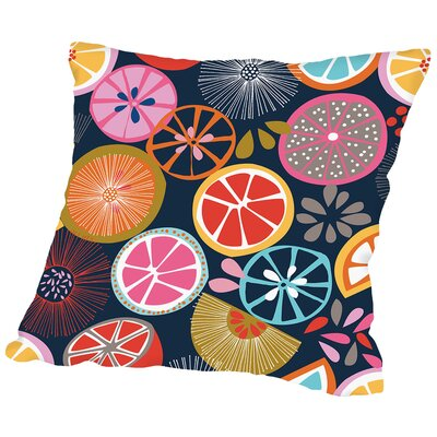 Oranges Throw Pillow Size: 20 H x 20 W x 2 D, Color: Black