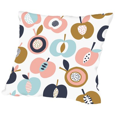 Pommes 1 Throw Pillow Size: 18 H x 18 W x 2 D