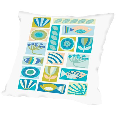 Under the Sea Throw Pillow Size: 14 H x 14 W x 2 D