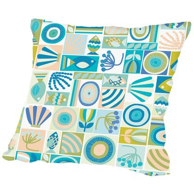 Under The Sea1 Throw Pillow Size: 14 H x 14 W x 2 D