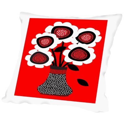 Vase 1 Throw Pillow Size: 20 H x 20 W x 2 D