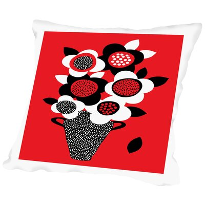 Vase 2 Throw Pillow Size: 18 H x 18 W x 2 D
