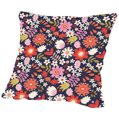 Valentine Floral Throw Pillow Size: 16 H x 16 W x 2 D, Color: Dark