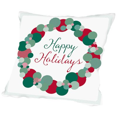 Holiday Wreath1 Throw Pillow Size: 20 H x 20 W x 2 D