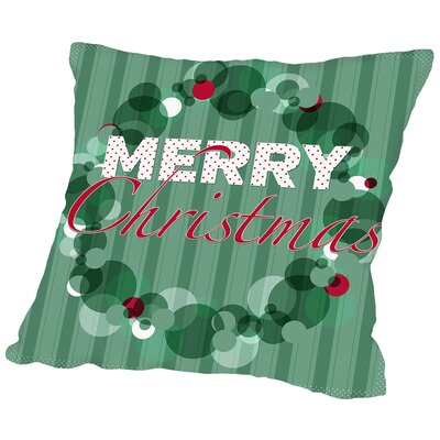 Holiday Wreath2 Throw Pillow Size: 16 H x 16 W x 2 D