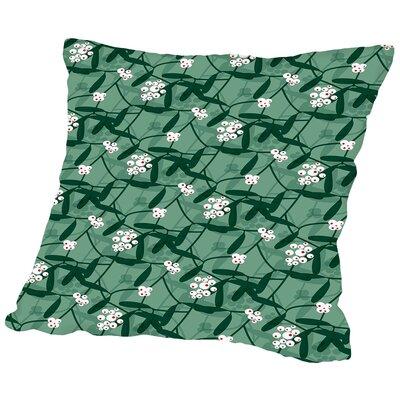 Holiday Mistletoe Throw Pillow Size: 20 H x 20 W x 2 D