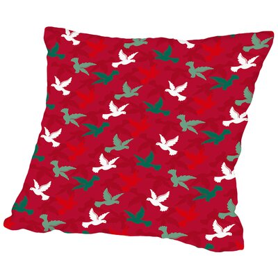 Holiday Doves Throw Pillow Size: 16 H x 16 W x 2 D