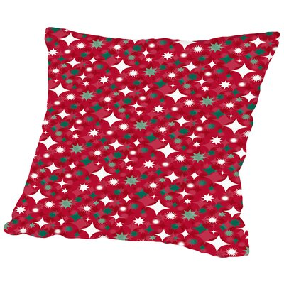 Holiday Stars Throw Pillow Color: Red, Size: 16 H x 16 W x 2 D