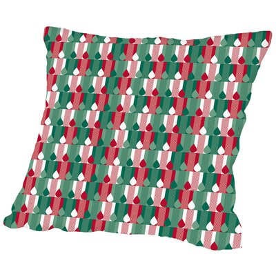 Holiday Candles Throw Pillow Size: 16 H x 16 W x 2 D