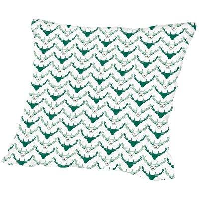 Rudolph Throw Pillow Size: 14 H x 14 W x 2 D
