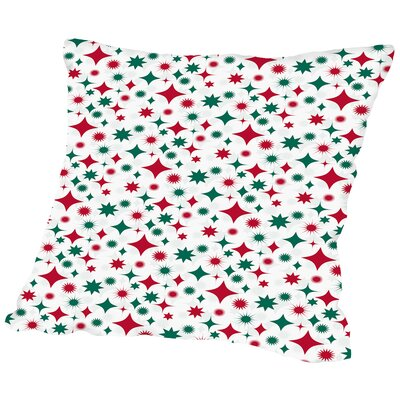 Holiday Stars Throw Pillow Size: 16 H x 16 W x 2 D, Color: White