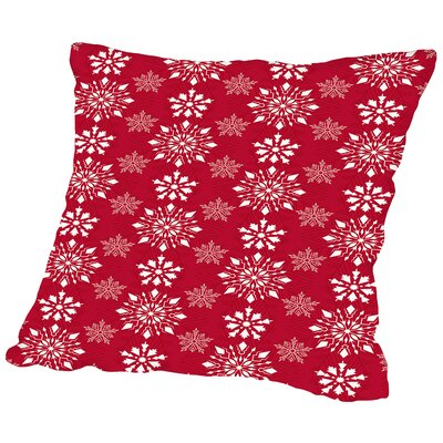 Holiday Snowflakes Throw Pillow Size: 20 H x 20 W x 2 D